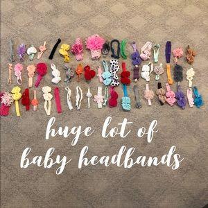 Other - Huge newborn baby girl lot! bow girl headband